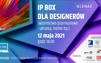 IP Box dla designerów – zapraszamy na webinar!
